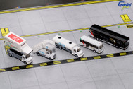 G2UAE638   Gemini 1:200   Airport Accessories - Ground Equipment Emirates, Set #1 with Buses