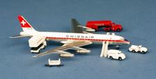 ACHBIDA   Aero Classics 1:400   DC-8-32 Swissair HB-IDA with GSE
