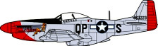 OXAC079 | Oxford Die-cast 1:72 | P-51 Mustang Sweet Arlene, 2nd. Lt.Arthur Reed Bowers