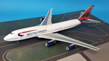 B-747-4-025 | WB Models 1:200 | Boeing 747-4 British Airways G-BNLS, 'Wunala Dreaming' (with stand)
