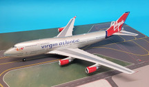JF-747-4-018 | JFox Models 1:200 | Boeing 747-400 Virgin Atlantic G-VXLG, 'Ruby Tuesday' (with stand)