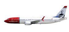611817 | Herpa Snap-Fit (Wooster) 1:200 | Boeing 737 MAX 8 Norwegian Air Shuttle EI-FYA, 'Sir Freddie Laker'