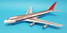 JF-747-2-006 | JFox Models 1:200 | Boeing 747-200 Northwest Orient N612US (polished, with stand)