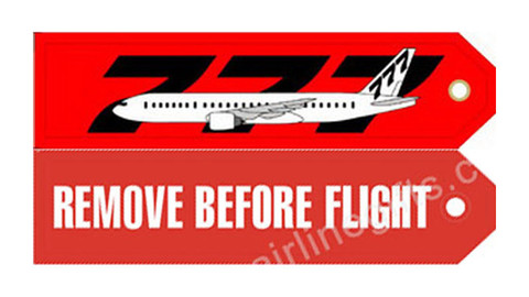 RBF777 | Gifts | Key Tag - Remove Before Flight - 777 - Aviation
