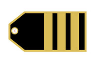 TAG413 | Bag Tags | Luggage Tag - Senior First Officer (3 stripes)