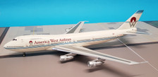 IF747HP001 | InFlight200 1:200 | Boeing 747-200 America West Airlines N533AW (with stand)