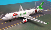 JF-A320-005 | JFox Models 1:200 | Airbus A320 AirAsia 9M-AHR, 'Line Friends' (with stand)