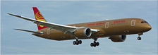 XX4034A | JC Wings 1:400 | Boeing 787-9 Hainan Airlines B-1343, 'All Gold' (flaps down) | is due: January 2018