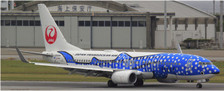 EW2738002 | JC Wings 1:200 | Boeing 737-8QRWL Japan Transocean Air JA05RK, 'Jinbei Jet' (with stand) | is due: TBC