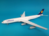 B-LH340-001 | WB Models 1:200 | Airbus A340-300 Lufthansa D-AIGS, 'Football Nose' (with stand)