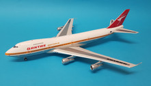 IF742QFA01P | InFlight200 1:200 | Boeing 747-200 Qantas VH-EBH, 'City of Newcastle' (polished, with stand)
