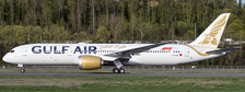 XX2134   JC Wings 1:200   Boeing 787-9 Gulf Air A9C-FA (new colours),(with stand)