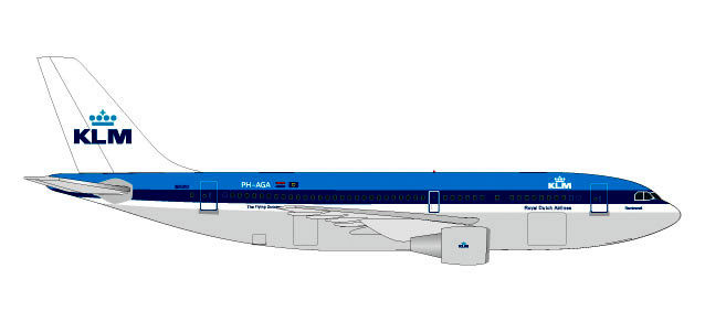 531573 | Herpa Wings 1:500 | Airbus A310 KLM Royal Dutch Airlines PH