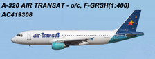 AC419308 | Aero Classics 1:400 | Airbus A320 Air Transat F-GRSH (yellow star) | is due: June 2018