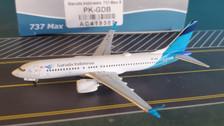 AC419302   Aero Classics 1:400   Boeing 737 MAX 8 Garuda Indonesia PK-GDB