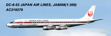 AC219279 | Aero Classics 200 1:200 | DC-8-50 JAL Japan Air Lines JA8008 | is due: June 2018