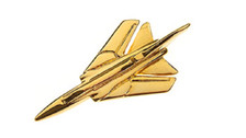 CL306 | Clivedon Collection | Plane Pin 3D - Tornado (gold-plated, with box)