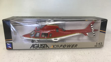 NR21143R | New Ray 1:43 | Augusta A109 Power Helicopter (red)
