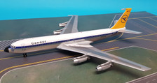 B-704-DE-001P | Blue Box 1:200 | Boeing 707-400 Condor D-ABOC (polished, with stand)
