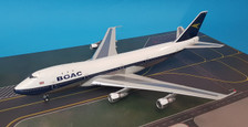 B-741-BOAC-NLP | Blue Box 1:200 | Boeing 747-100 BOAC G-AWNL (polished, with stand)