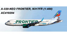 AC419294 | Aero Classics 1:400 | Airbus A320neo Frontier N317FR, 'Painted Bunting' | is due: July 2018