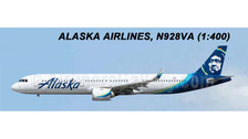 AC419335 | Aero Classics 1:400 | Airbus A321neo Alaska Airlines N928VA | is due: July 2018