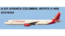 AC419324 | Aero Classics 1:400 | Airbus A321 Avianca Colombia N570TA