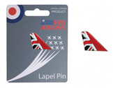 RA34E | Gifts |  Red Arrows Enamel Lapel Pin - Tail Fin