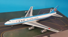 B-747SR-ANA-01P | Blue Box 1:200 | Boeing 747SR-81 ANA All Nippon Airways JA8157 (polished, with stand)