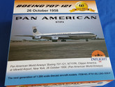 IF701-IDL-LBG-1958 | InFlight200 1:200 | Boeing 707-100 Pan American N711PA, 'First Commercial IDL-LBG' (with stand)