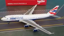 531924   Herpa Wings 1:500   Boeing 747-400 British Airways G-CIVL, 'oneworld'