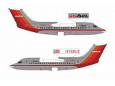 JX204A | Jet-x 1:400 | BAe 146-200 USAir 'Polished Finish' N188US