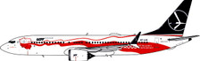 PH11487   Phoenix 1:400   Boeing 737 MAX 8 LOT Independance SP-LVD