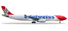 558129-001 | Herpa Wings 1:200 1:200 | Airbus A330-300 Edelweiss HB-JHQ (with stand) (plastic)  | is due: January / February 2019