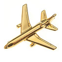 CL401 | Clivedon Collection | Plane Pin 3D -  Lockheed L-1011 Tristar (Gold plated , with box)