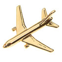 CL787 | Clivedon Collection | Plane Pin Badge 3D - Boeing 787 (gold plated, with box)