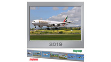 CALF19 | Gifts | Wall Calendar - Flugzeuge Airplanes 2019 (with 24 postcards)