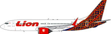 PH11493 | Phoenix 1:400 | Boeing 737 MAX 8 Lion Airlines PK-LQM, ' Hybrid-Batik Air Colours ' | is due: November / December 2018
