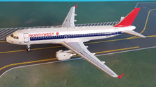 B-320-NW-1218 | Blue Box 1:200 | Airbus A320-211 Northwest Airlines N301US (with stand)