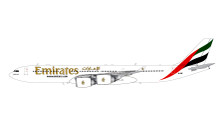 G2UAE383 | Gemini200 1:200 | Airbus A340-500 Emirates A6-ERE (with stand)