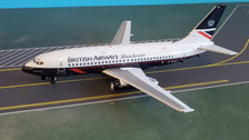 B-732-BA-05 | Blue Box 1:200 | Boeing 737-200 British Airways Manchester (with stand)