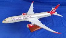 787GVAAH | PCM Models 1:100 | Boeing 787-9 Virgin Atlantic G-VAAH a fibreglass display model with stand.