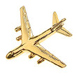 CL124 | Clivedon Collection | Plane Pin 3D - Antonov An-124 (silver plated, with box)