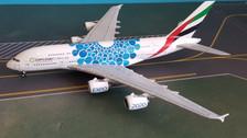 GJUAE1833   Gemini Jets 1:400 1:400   Airbus A380 Emirates A6-EOC 'Expo 2020 blue'