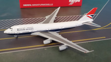 533508 | Herpa Wings 1:500 | Boeing 747-400 British Airways G-CIVB, '100th Negus Design' | is due