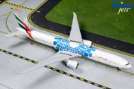 G2UAE776 | Gemini200 1:200 | Boeing 777-300ER Emirates Airline A6-EPK,'EXPO 2020 Blue' (with stand) | is due: