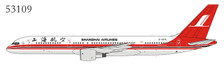 NG53109   NG Model 1:400   Boeing 757-200 Shanghai Airlines B-2876   is due: August 2019