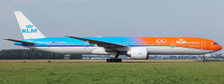 XX2321A | JC Wings 1:200 | Boeing 777-300ER KLM orange pride PH-BVA flaps down (with stand) | is due: September 2019