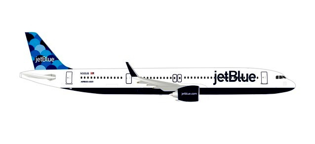 Herpa Wings 1:500 Airbus A 321 neo JetBlue Balloons 533805