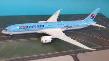B-789-KL-50 | Blue Box 1:200 | Boeing 787-9B5 Korean Air HL8082,'50th Anniversary logo' (with stand)
